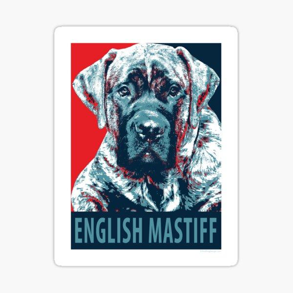 English Mastiff Puppy Pop Art Political Poster Sticker
