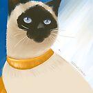 Siamesische Katze, die stolz in Sun sitzt von Natalie Cat