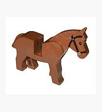 Toy Brick Horse Photographic Print