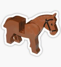 Toy Brick Horse Sticker