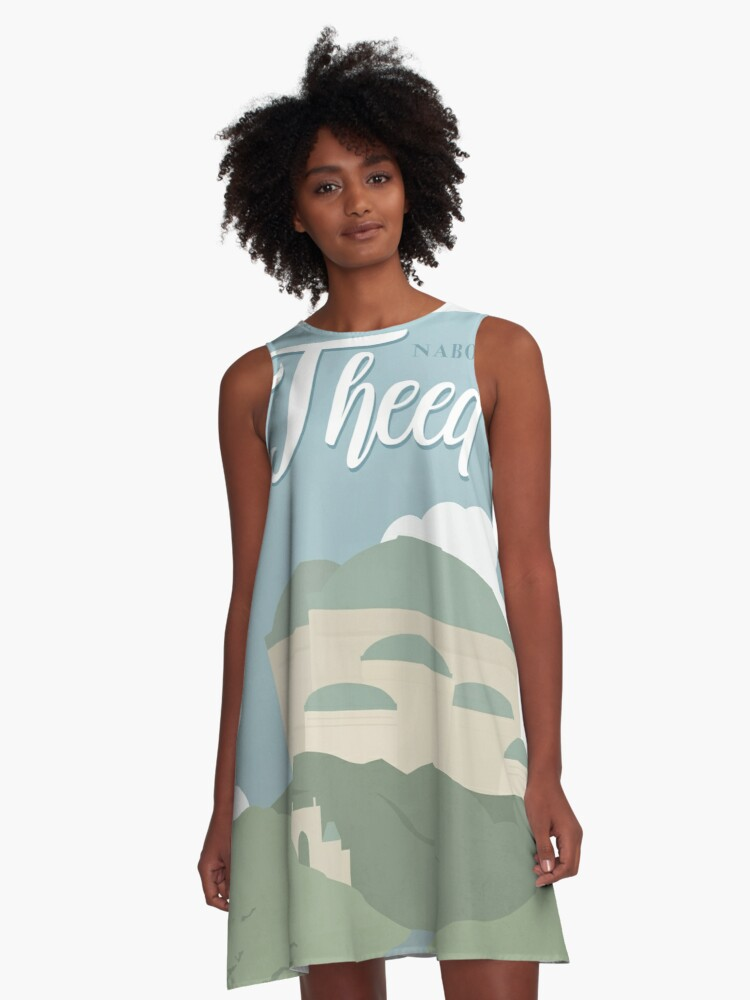 Galactic Travel - Naboo - Theed A-Line Dress Front