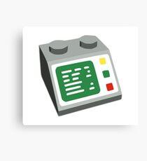 Toy Brick Computer Console Canvas Print