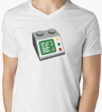 Toy Brick Computer Console Men's V-Neck T-Shirt