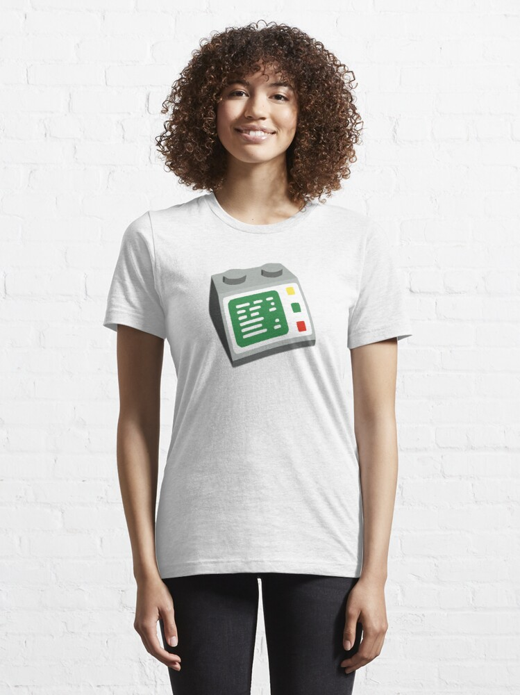 Alternate view of Toy Brick Computer Console Essential T-Shirt