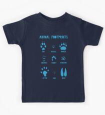 Animal Footprints - Blue Kids Tee