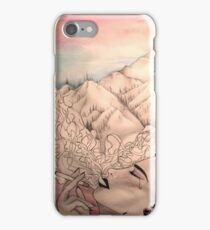 The woman with a Cigarette iPhone Case/Skin