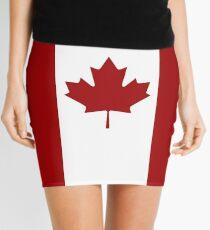 Canada: Canadian Flag (Red & White) Mini Skirt