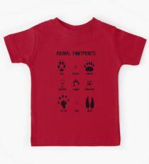 Animal Footprints - Black Kids Tee