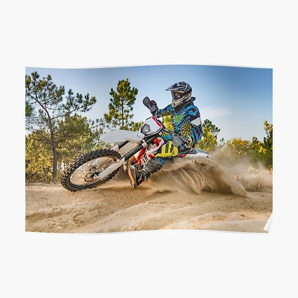 Enduro bike rider Poster