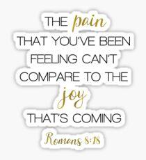 PAIN JOY ROMANS 8:18 Sticker