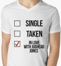 Single, Taken, In love with Jughead Jones Men's V-Neck T-Shirt