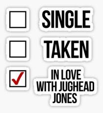 Pegatina Soltero, Tomado, Enamorado de Jughead Jones