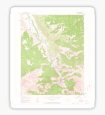 USGS TOPO Map Colorado CO Ouray 451435 1955 24000 Sticker