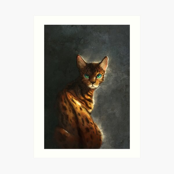 Bengal Cat Art Print