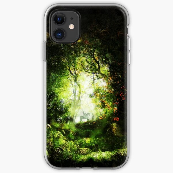 Encounter in a Woodland Glade iPhone Soft Case