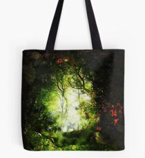 Encounter in a Woodland Glade Tote Bag