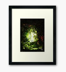 Encounter in a Woodland Glade Framed Print