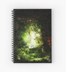 Encounter in a Woodland Glade Spiral Notebook