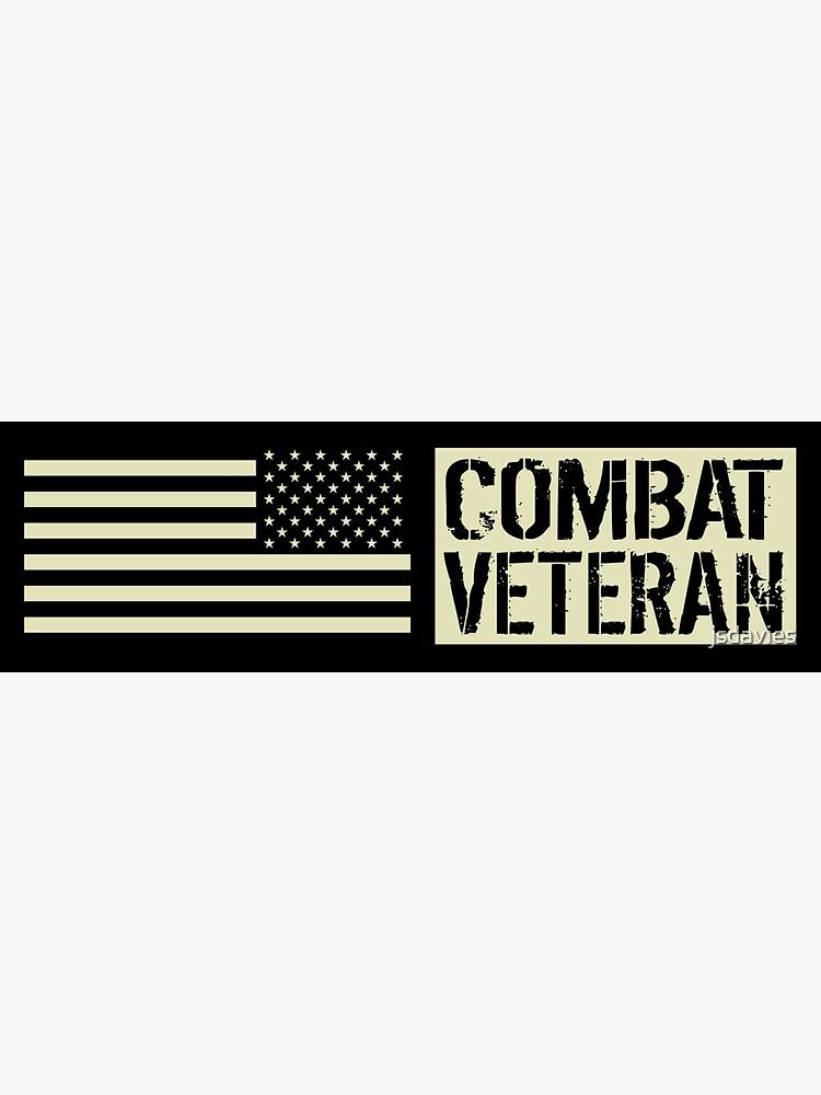 Combat Veteran: Black Military U.S. Flag by MilitaryCandA