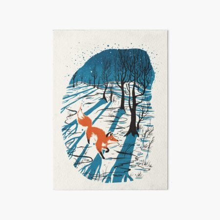 Winter Fox Art Board Print