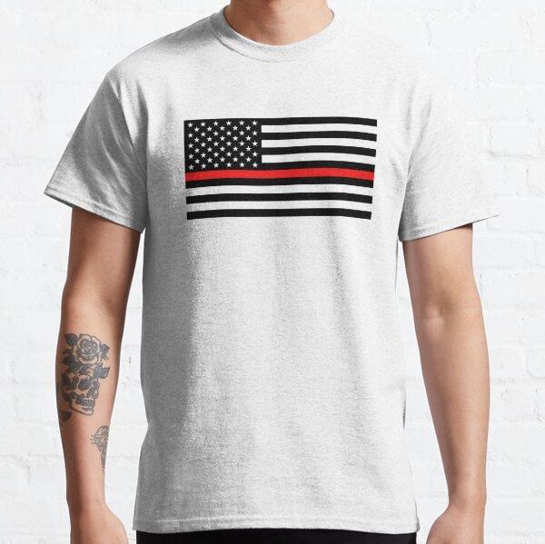 Firefighter: Black Flag & Red Line Classic T-Shirt