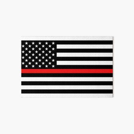 Crali Firefighter Thin Red Line American Flag Sleeveless Baybe Romper