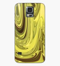 Yellow Gold Flowing Abstract Design Pattern Case/Skin for Samsung Galaxy