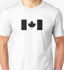 Canada: Black Military Flag Unisex T-Shirt