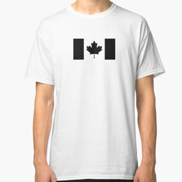 Canada: Black Military Flag Classic T-Shirt