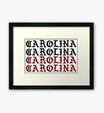 carolina carolina carolina carolina Framed Print