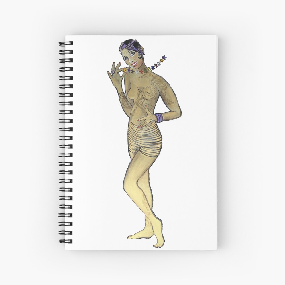 Josephine Baker Rainbow Tribe Spiral Notebook