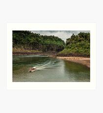 Iguaza River - load the boat Art Print