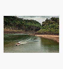 Iguaza River - load the boat Photographic Print