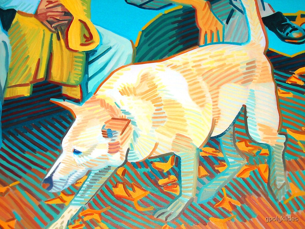 Dog detail from large painting by gpolyklides