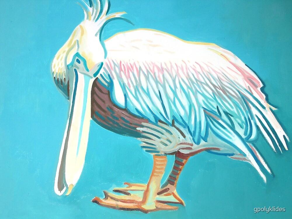 Pelican in Mykonos by gpolyklides
