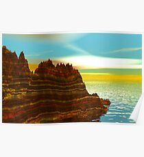 Sunrise on the Painted Cliffs Poster