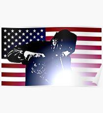 Schweißen: Schweißer & amerikanische Flagge Poster