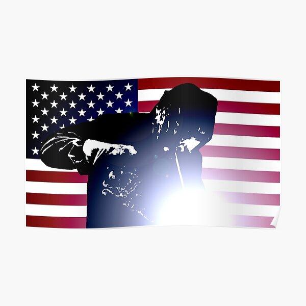 Welding: Welder & American Flag Poster
