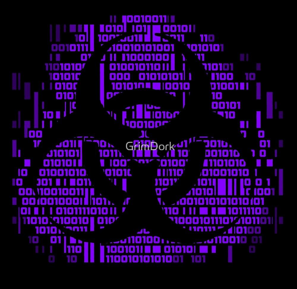 Binary biohazard symbol purple by grimdork redbubble binary biohazard symbol purple by grimdork buycottarizona