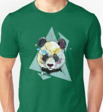 Geometric Watercolor Panda Bear Unisex T-Shirt