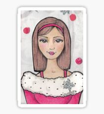 Teen Scene - Snow Girl Sticker