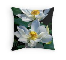 White Lotus's Throw Pillow