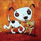 Dog V Bear by Neil Elliott