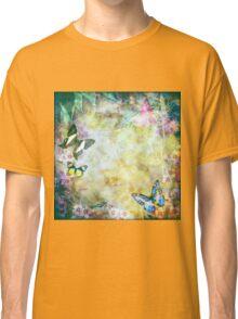 Vintage style Australian flora and butterflies Classic T-Shirt
