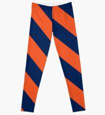 Legging Rayas diagonales: Naranja y azul marino