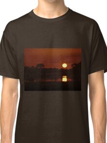 Boat in amazing sunset Classic T-Shirt
