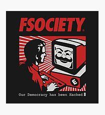 FSociety Mr.Robot Photographic Print