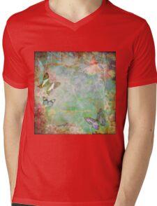 Vintage Australian floral butterfly design Mens V-Neck T-Shirt