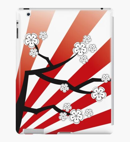 Zen White Cherry Blossoms Sakura Sunrise iPad Case/Skin