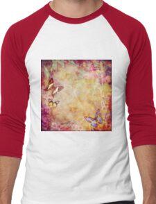 Vintage Australian butterflies and flora Men's Baseball ¾ T-Shirt